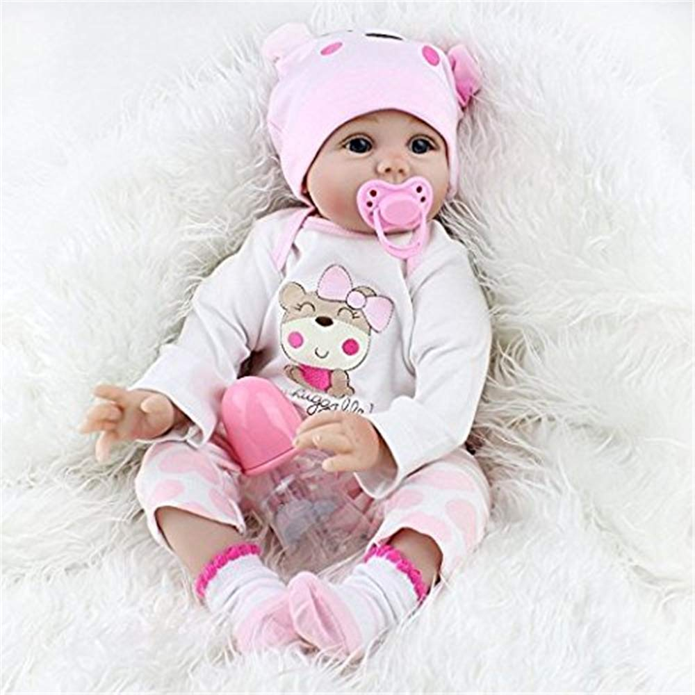 Lifelike Realistic Baby Doll, Tall Dreams, 22 inches Silicon Lifelike Realistic Reborn Cute Vinyl Doll for Kids Toys, Weighted Baby Doll, Collect Toys for Ages 3+ SecretCastle
