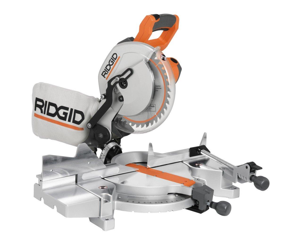 61GJ06YF5FL._SL1200_ ridgid ms1065lza saw, 10 inch compound miter with laser power