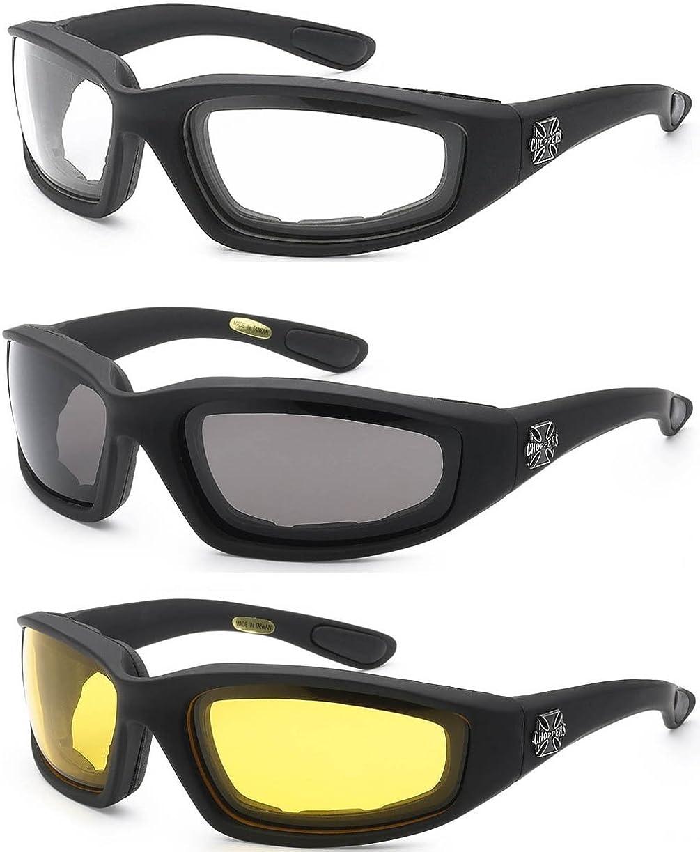 CHOPPERS Motorcycle Driving Riding Padded Glasses Bike Sunglasses Shades Eyewear