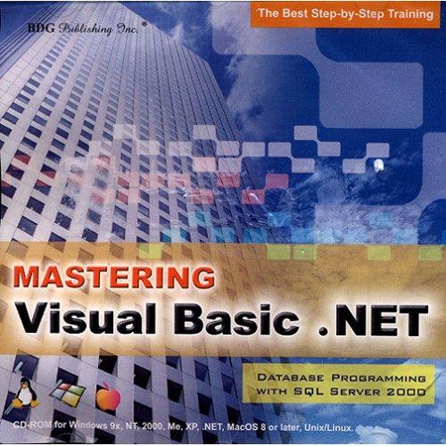 Amazon com: BDG PUBLISHING Mastering VB NET Database