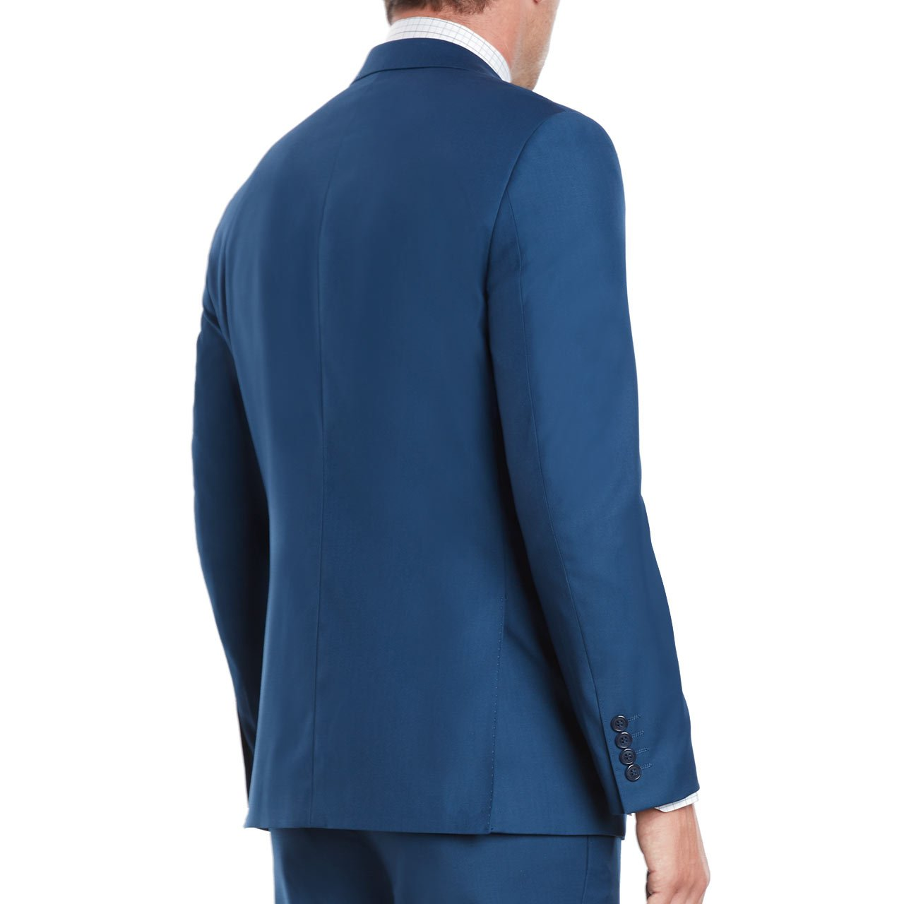 Mens Slim Fit Notched Lapel 3 Piece Suit Set Designed by Taheri French Blue 80/20(US 36R / EU 46R / Waist 30) by Sebastian Taheri Uomo (Image #6)