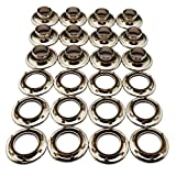 C.S. Osborne 12 Sets Nickel Plated Grommets & Spur Washers #N2-4 (9/16'' Hole)
