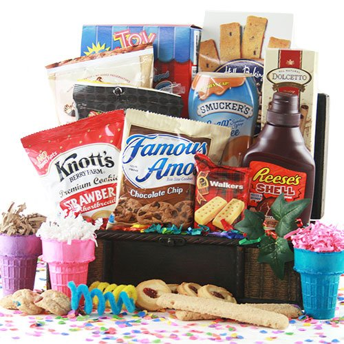 I Scream, You Scream Ice Cream Gift Basket (Ice Cream Sundae Basket)