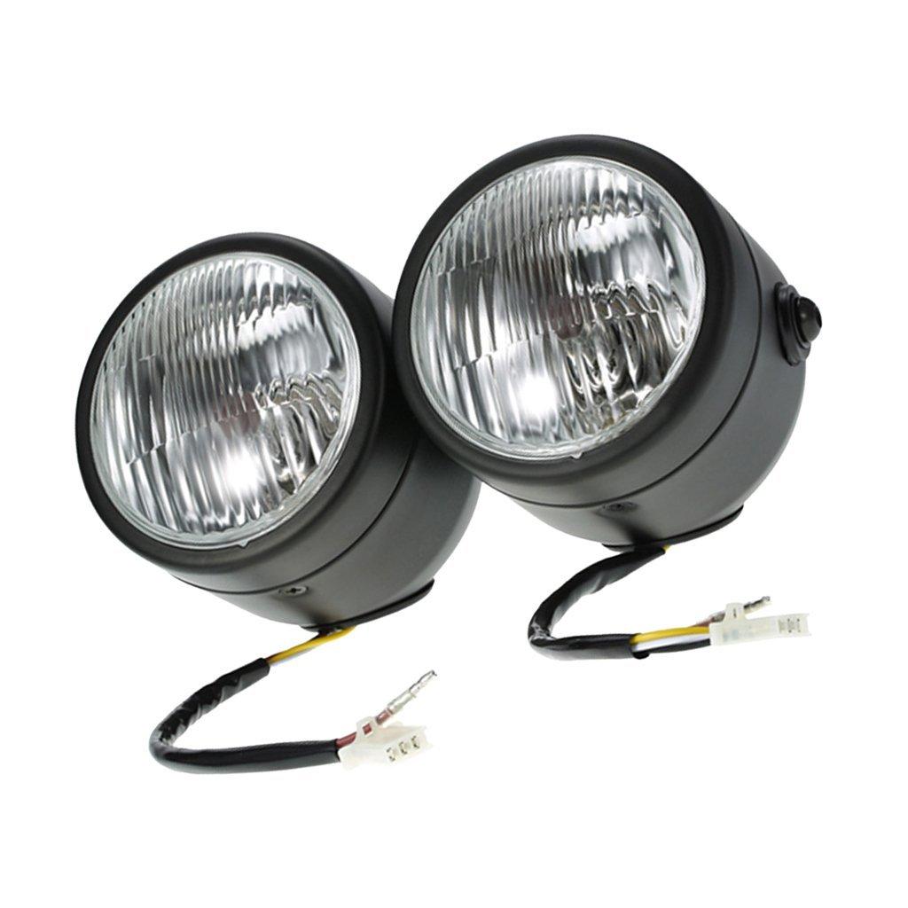 Backbayia Motorrad-Frontscheinwerfer 12 V 35 W Stirnlampe 4300 K
