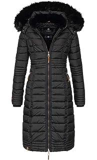 cdc6bf04f3d2ab Navahoo Damen Wintermantel Mantel Steppmantel Winter Jacke lang Stepp warm  Teddyfell B670