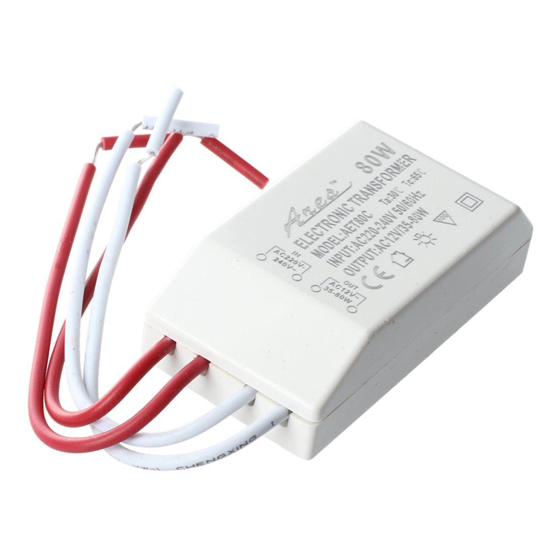 TOOGOO(R) SMD Halogen Light Transformer Power Supply Driver 80W 12V for MR16 MR11
