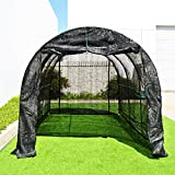 BenefitUSA New Hot GreenHouse Large Walk-In BLACK Greenhouse Outdoor Plant Gardening (12'X7'X7')