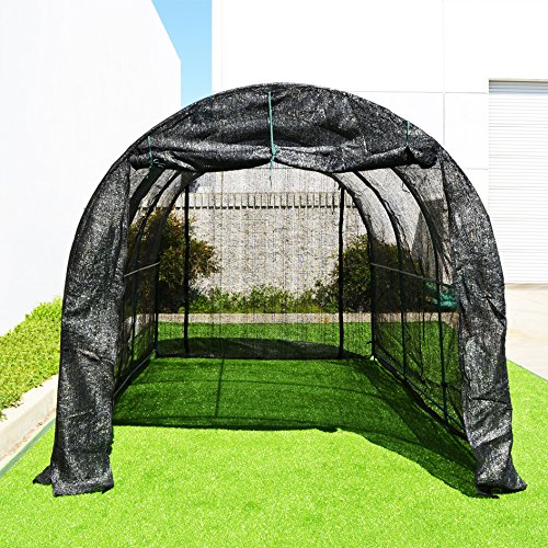 BenefitUSA Large Green House Walk In Garden Greenhouse Outdoor Canopy Gazebo Plant House (12'X7'X7', Black)
