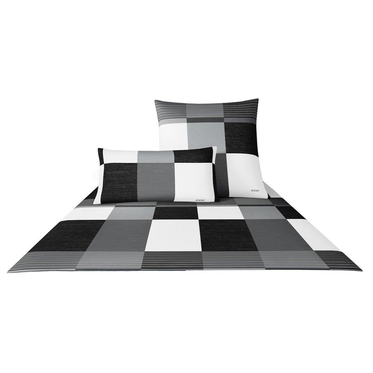 Joop  Bettwäsche Plaza Squares 4051 Fb. 0 - Größe  155 x 220 cm