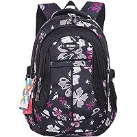 SellerFun Girl Women Flower Printed Waterproof Rucksack Backpack School Bag Bookbag