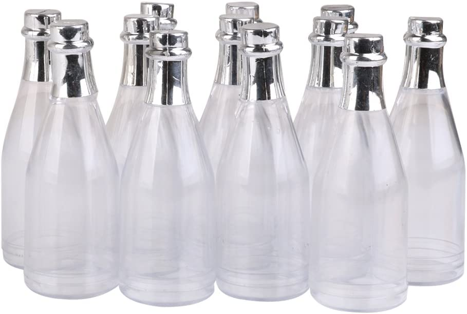 Blossom 8pcs Champagne candy bottles for Wedding Party DIY Decor Plastic Champagne Bottle Container