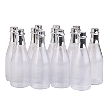 12PCS Champagne Bottles Candy Bottle Box Shower Party Favors Clear