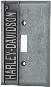 Harley-Davidson Heavy-Duty H-D Single Switch Plate, Hardware Included HDL-10169