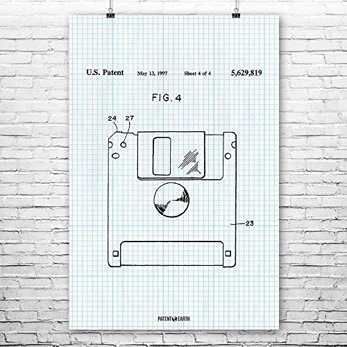 Floppy Disk Poster Patent Art Print Graph Paper