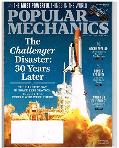 POPULAR MECHANICS Magazine (Feb 2016) The Challenger Disaster: 30 Years - Disasters Magazine