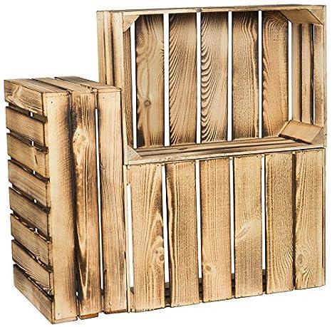 Kistenkolli Altes Land Plano flambeados/flameadas Caja de Frutas Helga ca 60x40x21cm / Cajas de Manzana Cajas de Vino Stiehe Obtener Caja del Estante ...