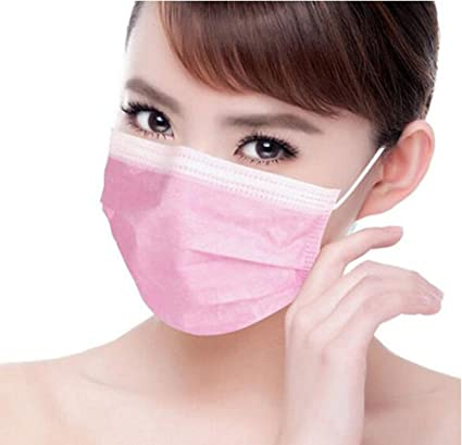 Disposable 50pcs Pink Earloop Fashlady Buy Face Protective Dust