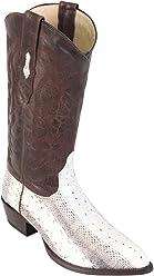 Genuine Water Snake Natural J-Toe Los Altos Mens Western Cowboy Boot 996749