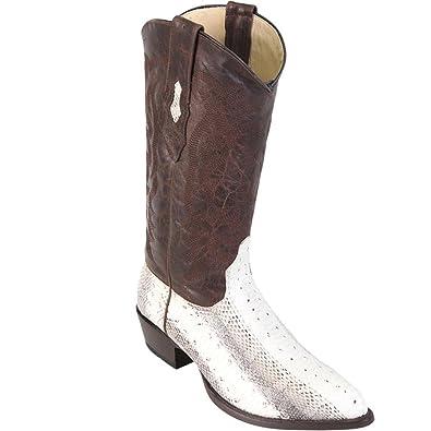 f00554b201e Genuine Water Snake Natural J-Toe Los Altos Men's Western Cowboy Boot 996749