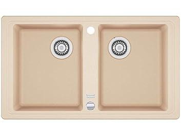 Franke Basis BFG 620 beige FRAGRANITE cucina lavandino doppio bacino  lavello da incasso