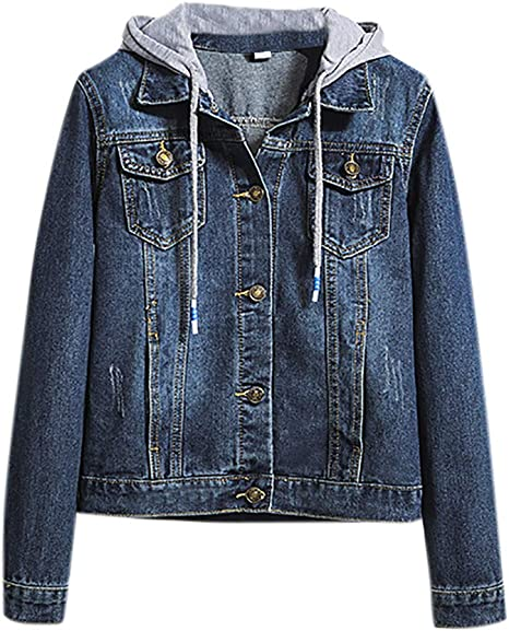 Lulupi Jeansjacke Damen Übergangsjacke Denim Jacket