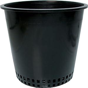 Hydrofarm Round Mesh Bottom Pot Planters, Black, Set of 50