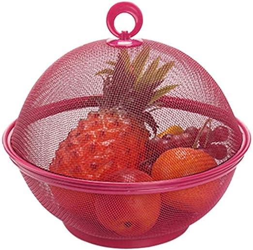 Sunnyushine Fruteros, Forma de Manzana Malla Frutas Frescas Cesta de Almacenamiento con Tapa Decoración de Mesa de Comedor Caja de Almacenamiento Cesta Fruteros de Cocina Modernos: Amazon.es: Hogar