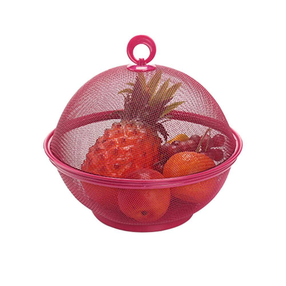 arbitra Obstkorb Lagerung mit Deckel Abdeckung Küchenregal Lagerung Esstisch Dekoration Sammeln Box