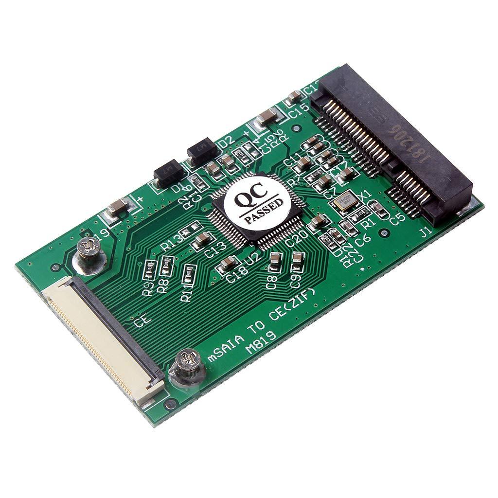 H HILABEE MSATA Mini PCI-E SATA SSD To ZIF CE 1.8 40 Pin ZIF CE Adapter Card