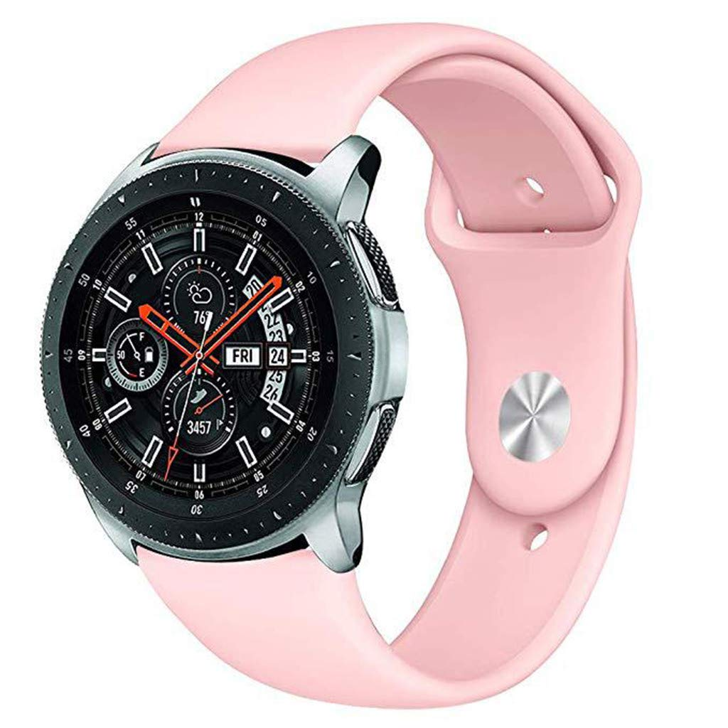 Candy Color Soft Silicone Sports Replacement Watch Band Wrist Strap for Samsung Galaxy Watch 46mm (Pink)