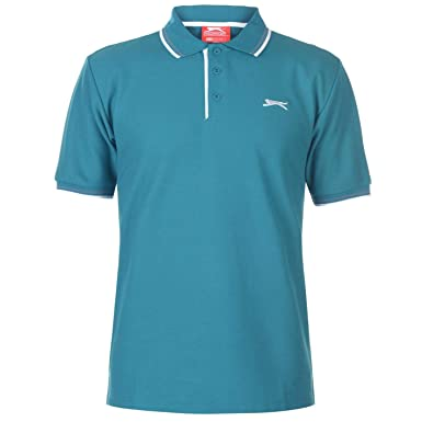 Slazenger Hombre Tipped Camiseta Polo Teal Azul 3XL: Amazon.es ...