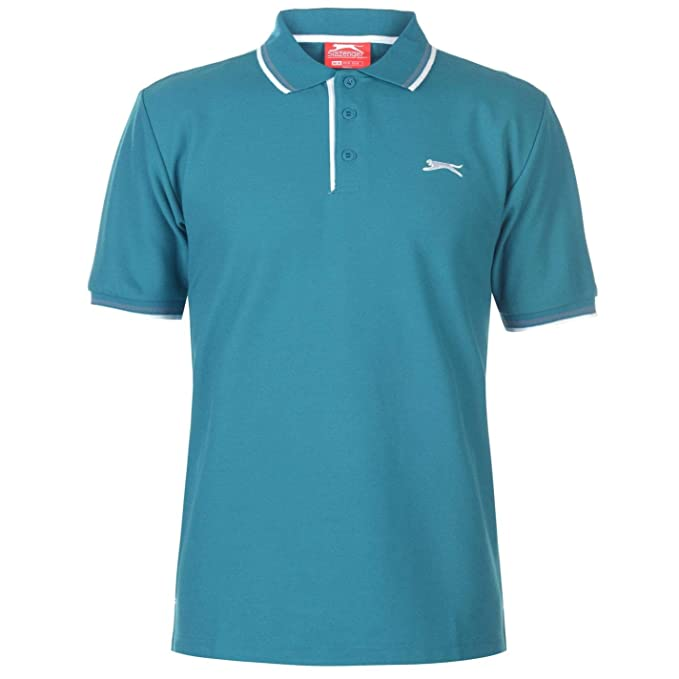 Slazenger Hombre Tipped Camiseta Polo Teal Azul XS: Amazon.es ...