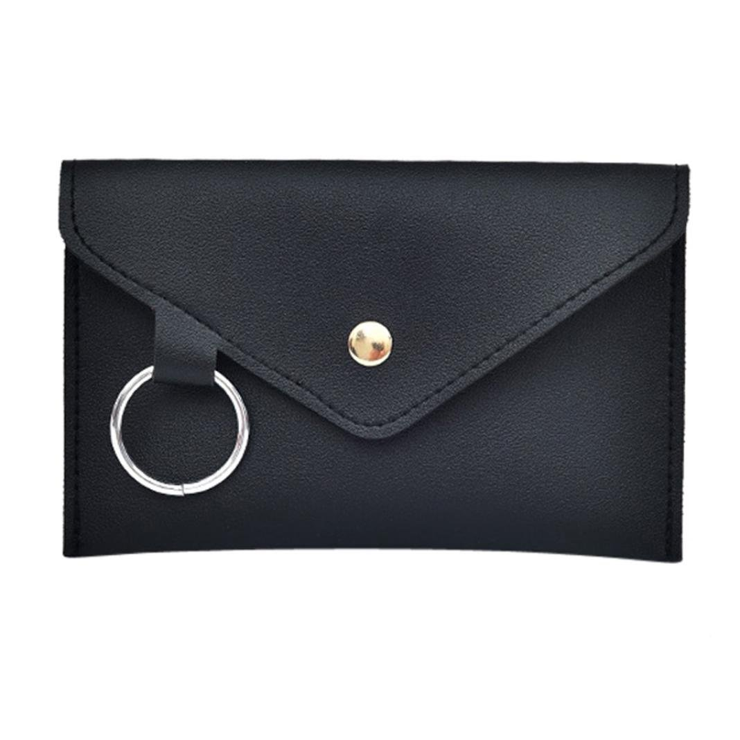 Womens Leather Belt Fanny Pack With Removable Belt Tassel Waist Pouch Fashion Belt Bags Chest Bag (Black)
