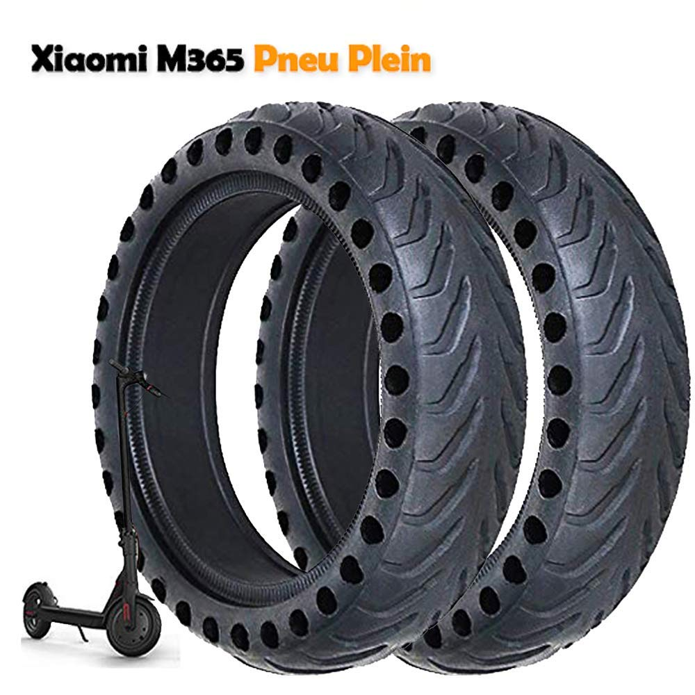 LuYang 2pcs 8 1/2 x 2 Honeycomb Hole Solid Tubes Replacement Tyre Tires Compatible with Xiaomi Xiao Mi Mijia M365 Electric Scooter