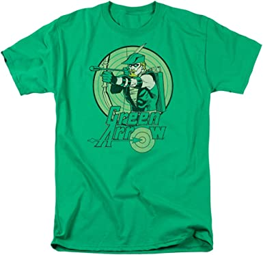 Green Arrow DC Comics Mens Camisa Manga Corta Verde Kelly XL