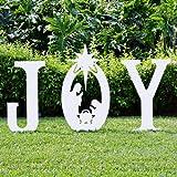 Teak Isle Christmas Joy Nativity Yard Sign