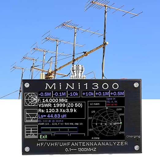 Analizador de red vectorial Mini1300 0.1-1300Mhz, analizador ...