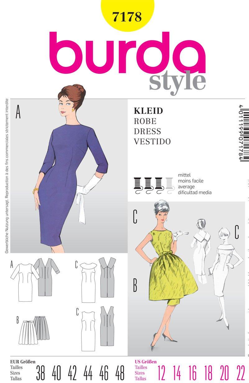 Burda 7178 patrón de costura para traje de neopreno para mujer - E ...