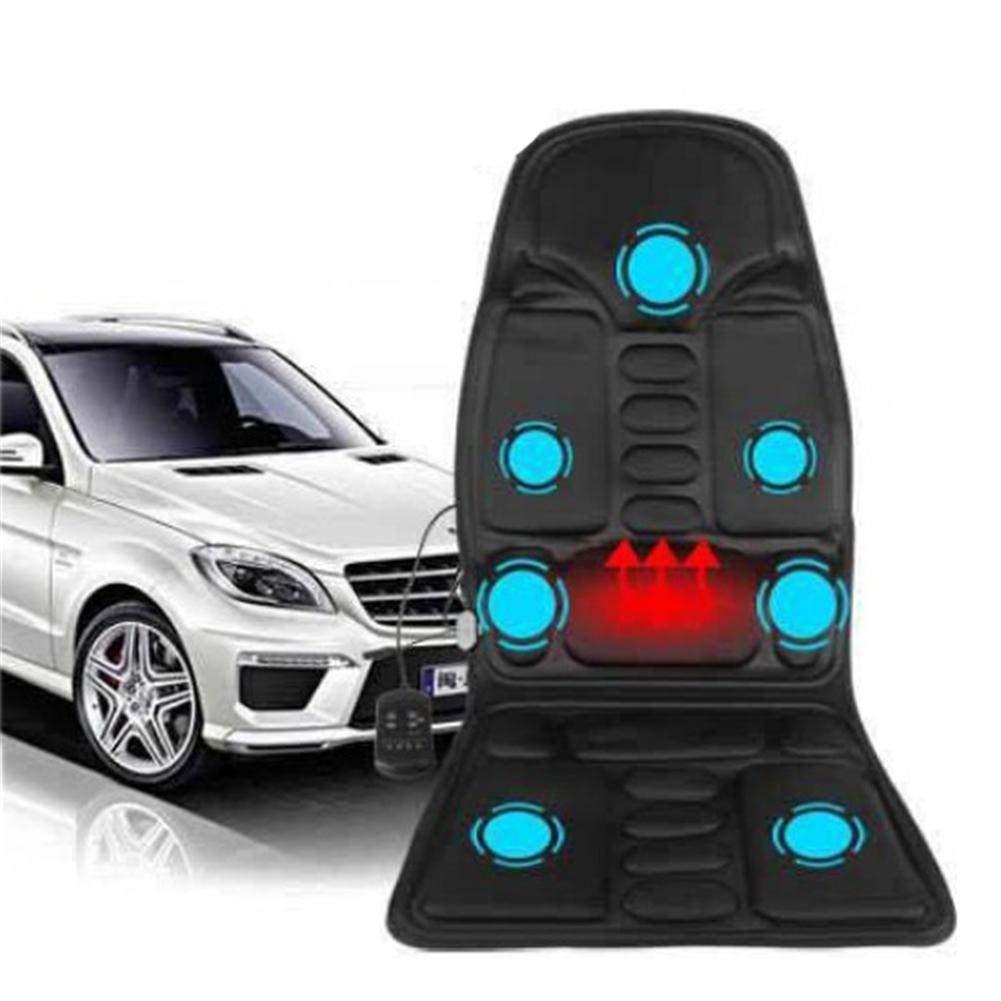 シートクッション マッサージチェアパッド、7モーター振動マッサージシートクッション付きヒートリリーフネック、バック、ウエスト、脚の痛み自宅、車またはオフィスでの使用に最適