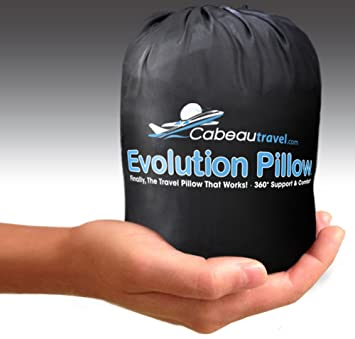 Amazon.com: cabeau Evolution Lujo Memory Foam Travel Pillow ...