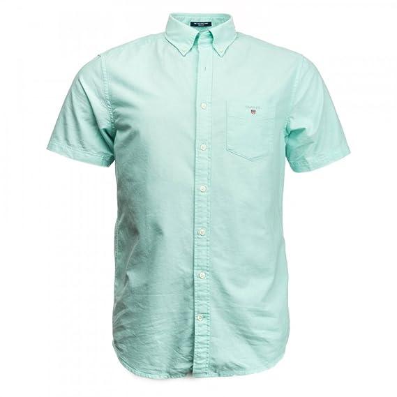 05550e61 Gant The Short Sleeved Oxford Mens Shirt S/S 18 Spearmint L: Amazon.co.uk:  Clothing