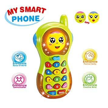Amazon Com Toys Phone For 6 Months Old Boys Baby Girl Toy Phone