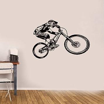 pegatinas de pared frases Moto BMX Bicicleta Bicicleta Deporte: Amazon.es: Bricolaje y herramientas