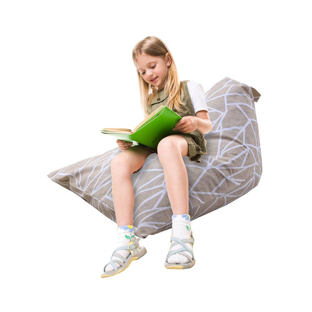 Samber Stuffed Animal Storage Bean Bag Chair Organizer With Handle, Large Capacity, oft & Comfy Cover that Creates Cozy Lounger Bed/C