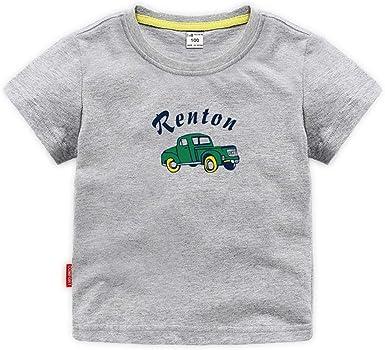 ALLAIBB Camiseta de algodón de Manga Corta con Estampado de Coche de Dibujos Animados para niños, niños, Camiseta de algodón, Top: Amazon.es: Ropa y accesorios
