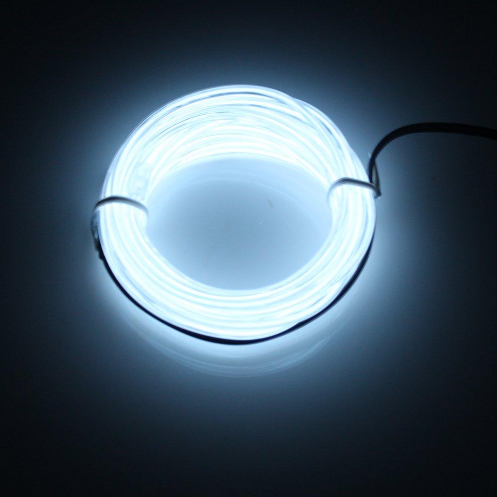 Lerway Luz de Ne/ón el Alambre con Controlador Box azul cielo Resistente al Agua Tiras de EL LED L/íneas de Cables Luminoso Exterior para Fiestas y Decoraci/ón de Halloween,3M