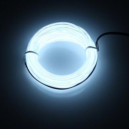 Lerway Luz de Neón el Alambre con Controlador Box, Resistente al Agua Tiras de LED Líneas de Cables Luminoso Exterior para Fiestas y Decoración de Halloween ...