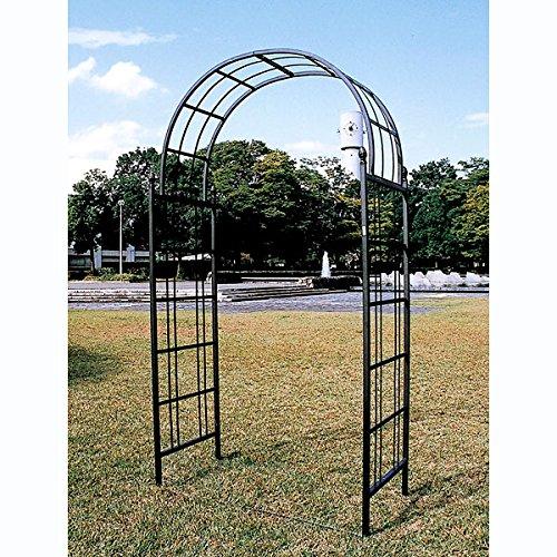 ガーデンアーチE型(幅127cm、高さ235cm)[ロートアイアン使用の高級タイプアーチ] ノーブランド品 B07BBWKTL4