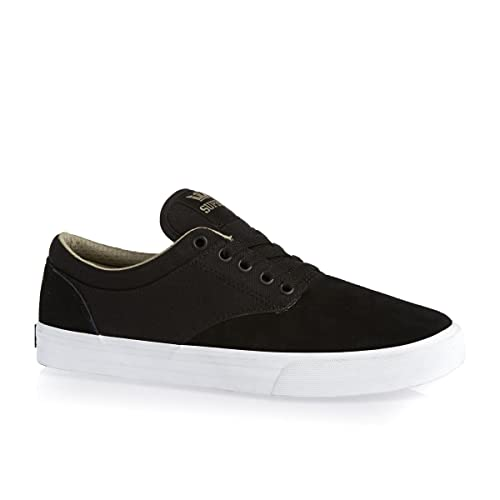 4ab4eda29f72 Supra Chino Skate Shoes Mens Black Khaki-White 8 D(M) US  Buy Online at Low  Prices in India - Amazon.in