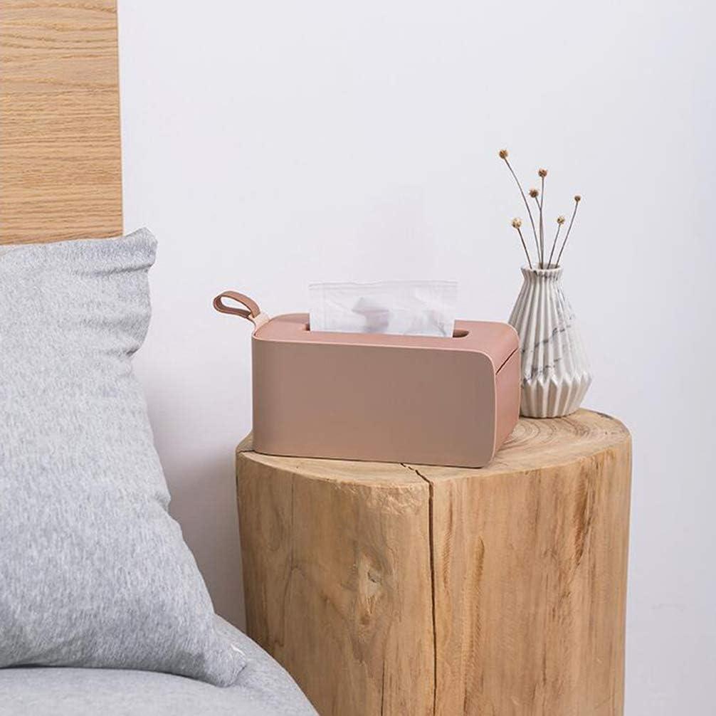 CLISPEED Rechteckige Taschentuchbox Gesichtstuchhalter Kunststoff Serviette Veranstalter Pumppapier Fall Spender f/ür Badezimmer K/üche Und B/üro Rosa